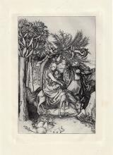 Martin Schongauer Flight to Egpyt engraving