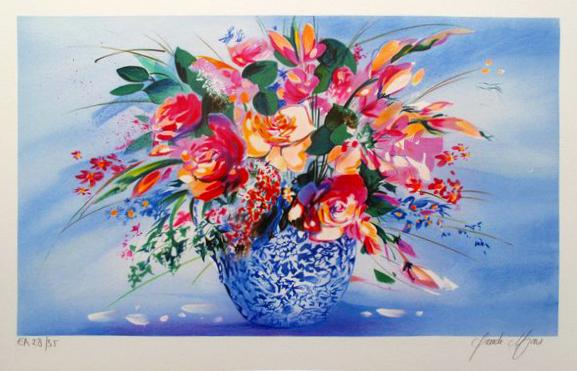 Claude Mars le Vase Japonais Lithograph