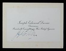 Joseph Edward Davies SGC Authenticated