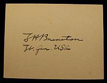 Lt. General Lewis H. Brereton Autographed