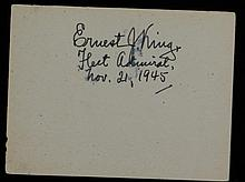 US Fleet Admiral Ernest J. King, SGC Authenticated
