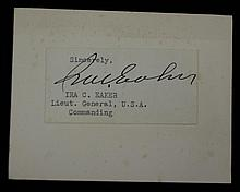Lt General Ira Eakers SGC Authenticated