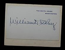 Admiral William Leahy SGC Authenticated