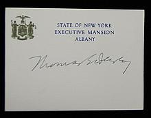 Gov. Thomas Dewey  SGC Authenticated