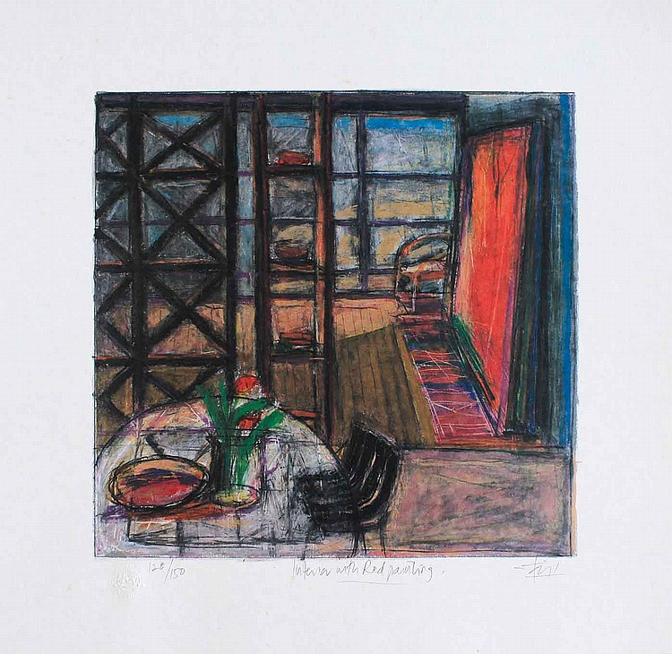 TAJUDDIN ISMAIL, DATO' (B. N. Sembilan, 1949 'Interior With Red Painting'