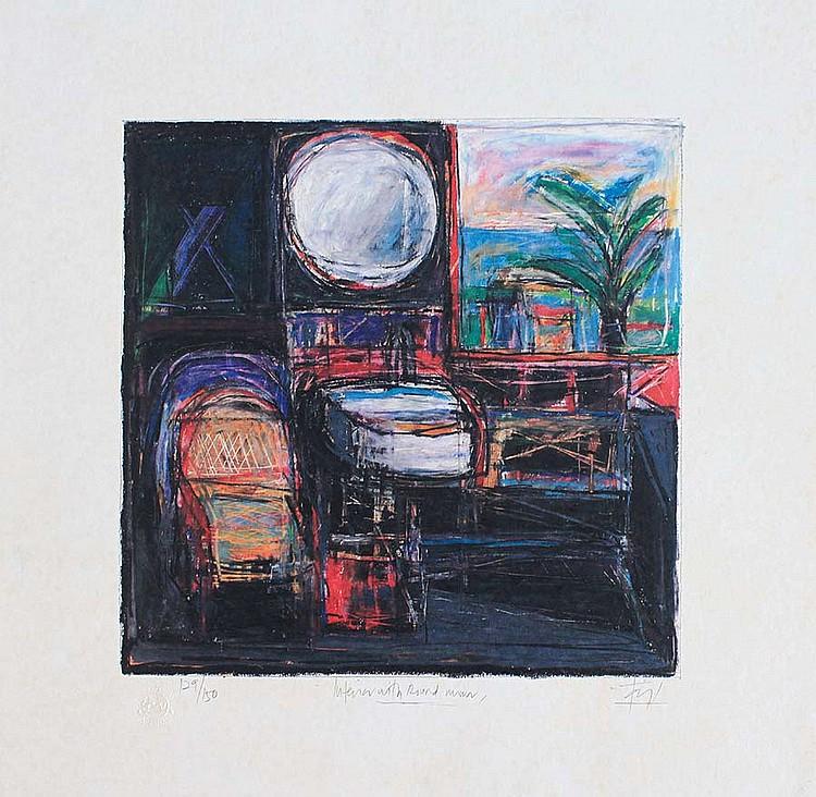 TAJUDDIN ISMAIL, DATO' (B. N. Sembilan, 1949) 'Interior With Round Mirror'