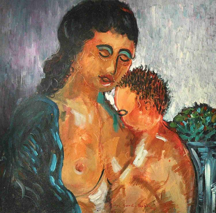 SHAFURDIN HABIB (B. Perak, 1961) 'Mother and Child'