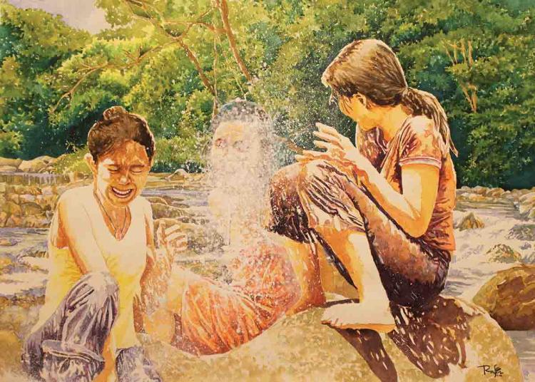 NIK RAFIN (B. Selangor, 1974) 'Bumi Bertuah'