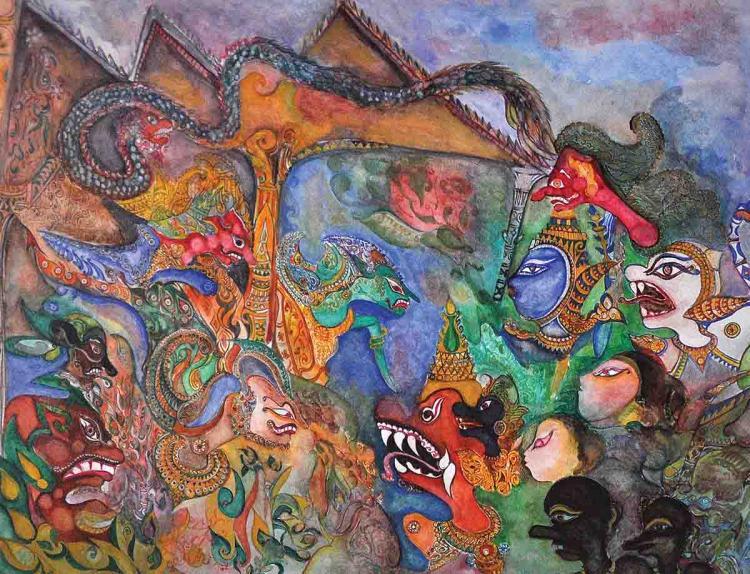 NIK ZAINAL ABIDIN (B. Kelantan, 1933-1993) 'Istana Kayangan Series'