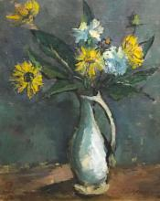 SINDUDARSONO SUDJOJONO : Still Life Flowers, 1961