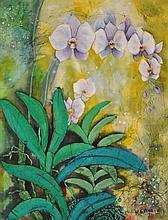 CHUAH SEOW KENG (B. Kelantan, 1945) Orchids, 1973