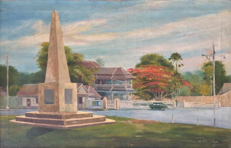 MOKHTAR ISHAK (B. Kelantan, 1939) Padang Merdeka, Kota Bharu, 1970