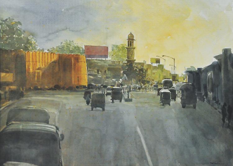 "KHALIL IBRAHIM (B. Kelantan, 1934) Indian Series ""Indian Experience III"", 2001"