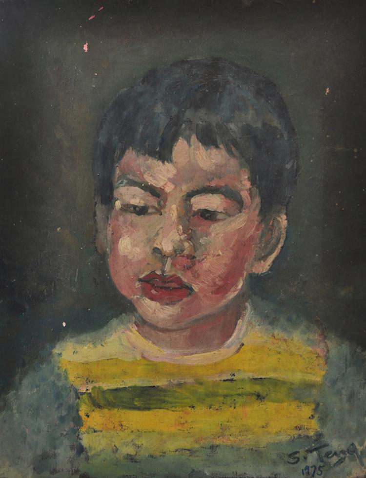 CHUAH SIEW TENG (B. Penang, 1944) Portrait of a Boy, 1975
