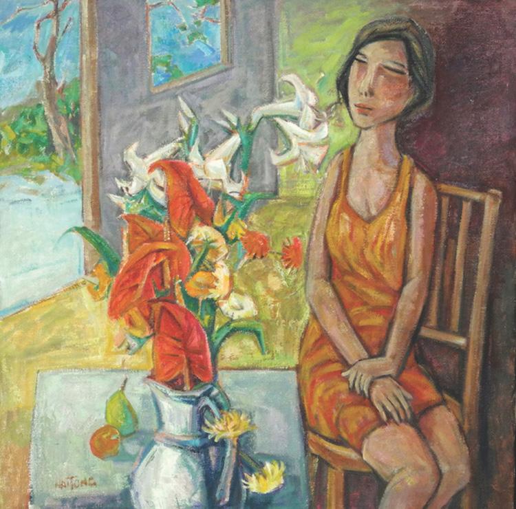 TEW NAI TONG (B. Selangor, 1936-2013) She Likes Flowers, 2010