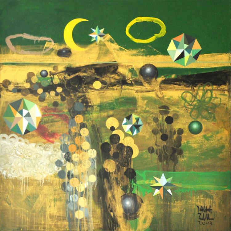 ZULKEFLI TALHA (B. Selangor, 1972) Green And Gold Khatulistiwa, 2007