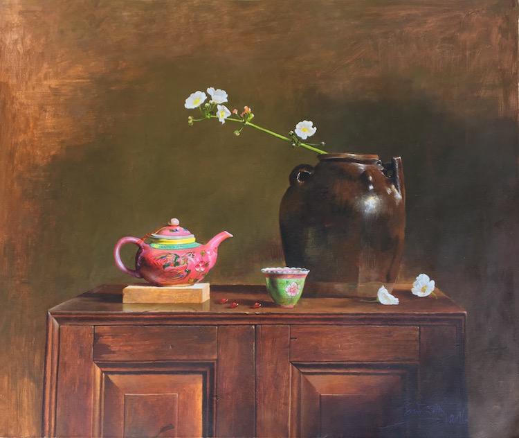 LYE YAU FATT (B. Kedah, 1950) Flowers in a Vase, 2016