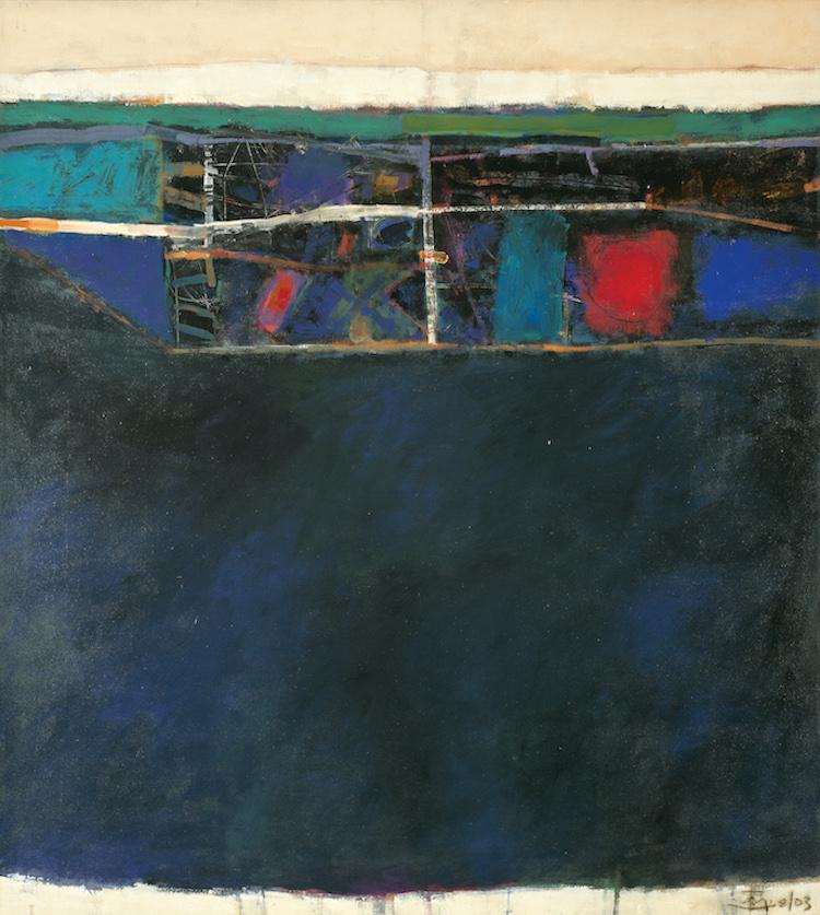 TAJUDDIN ISMAIL, DATO' (B. N. Sembilan, 1949) Blue Landscape, 2003