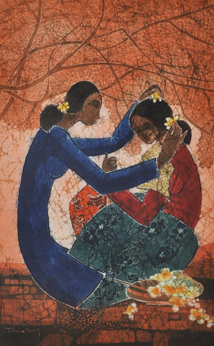 TAN THEAN SONG (B. Kedah, 1946) Mother and Daughter, 2008