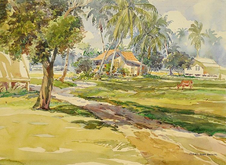 ISMAIL MAT HUSSIN (B. Kelantan, 1938-2015) Tumpat, 1990s
