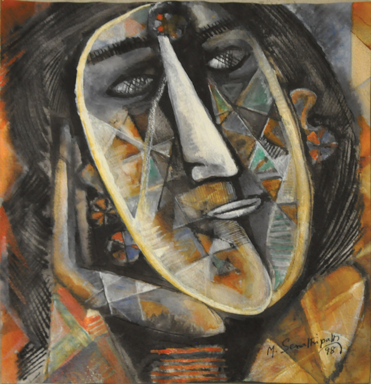 M. SENATHIPATHI (B. India, 1939) Face, 1998