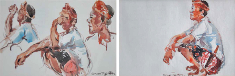 CHANG FEE MING (B. Terengganu, 1959) Samuan Tiga I & II, 1994