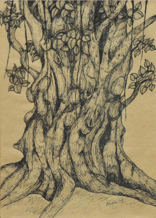 BHANU ACHAN (B. Kuala Lumpur, 1949) 'Study of a Tree'