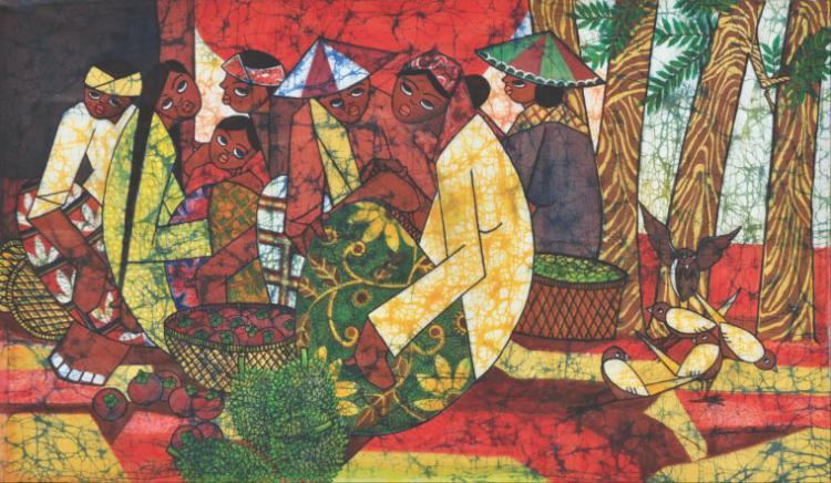 KWAN CHIN (B. Kuala Lumpur, 1946) 'Fruit Seller Series'