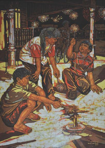 ISMAIL MAT HUSSIN (B. Kelantan, 1938-2015) 'Siri Bunga Api'