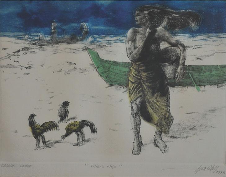 LONG THIEN SHIH (B. Selangor, 1946) 'Fisherman's Wife'
