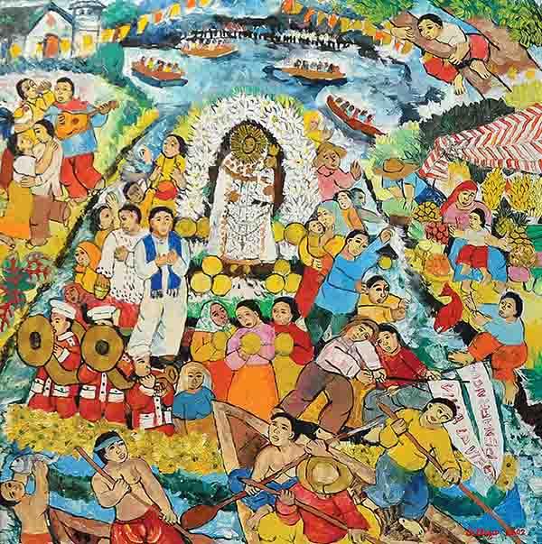 NORMA BELLEZA (B. Philippines, 1939) Pagoda Festival in Bocaue, Bulacan, 2002
