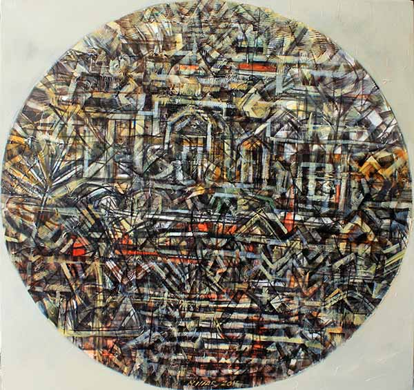 "NIZAR KAMAL ARIFFIN  (B. Pahang, 1964) Dalang Series ""Dunia Berbisik Whispering World #14"", 2015"