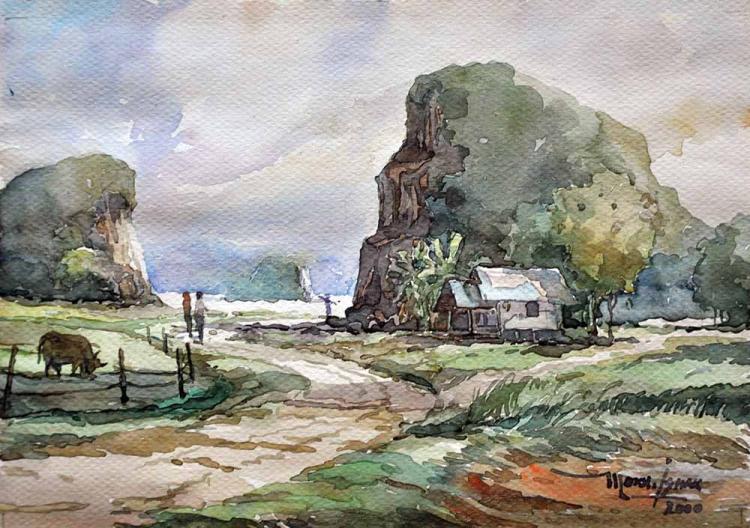 MOKHTAR ISHAK (B. Kelantan, 1939) Imaginary Landscape, 2000