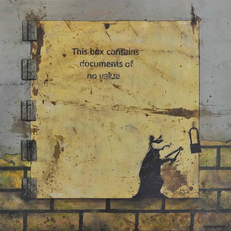 """NAJIB AHMAD BAMADHAJ (B. Johor, 1987) Banksy Series """"Worthless III"""", 2010"""