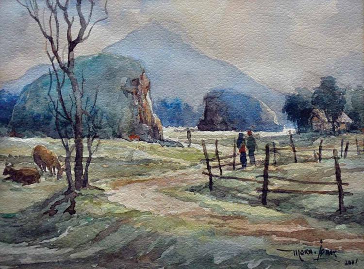 MOKHTAR ISHAK (B. Kelantan, 1939) Imaginary Landscape, 2001