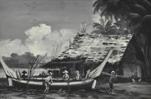 MOHD ZAIN IDRIS Fishing Village, 1950 Oil on board