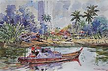 SHAFURDIN HABIB Menyusuri Tebing, 2010 Watercolour on paper