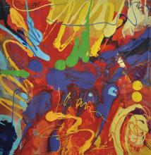ISMADI SALLEHUDIN Sparring of Colour, 2015 Mixed media on canvas