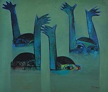 KHOO SUI HOE Water Game, 1999 Oil on canvas