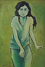 JEIHAN SUKMANTORO (B. Indonesia, 1938) Gadis, 1991 Oil on canvas