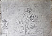 ISMAIL MAT HUSSIN Figure Study, 1978 Pen on paper