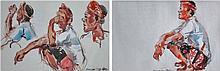 CHANG FEE MING Samuan Tiga I & II, 1994 Watercolour on paper
