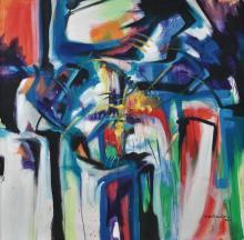 SABRI SALLEH Power Of Light, 1996 Oil on canvas
