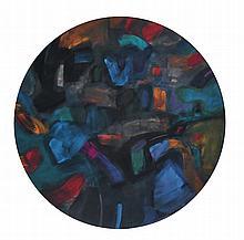 TAJUDDIN ISMAIL, DATO' Blue Moon II, 2007 Mixed media on wood panel