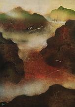 THOMAS YEO (B. Singapore, 1936) Misty Pass, Gouache on rice paper