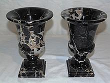 Pair of Vintage Italian Marble Urn's