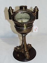 Vintage Brass Dolphin Based Compass