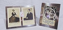 Pair Vintage Royal Photo's in Sterling Frames