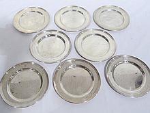 8 Vintage International Sterling Plates