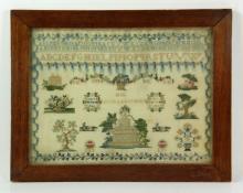 1835 Needlework Sampler